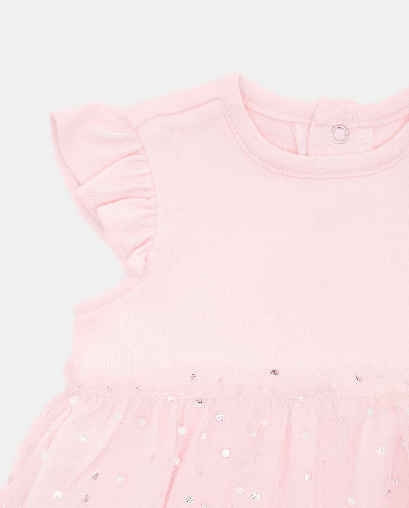 Vestito con tulle e motivo a pois neonata
