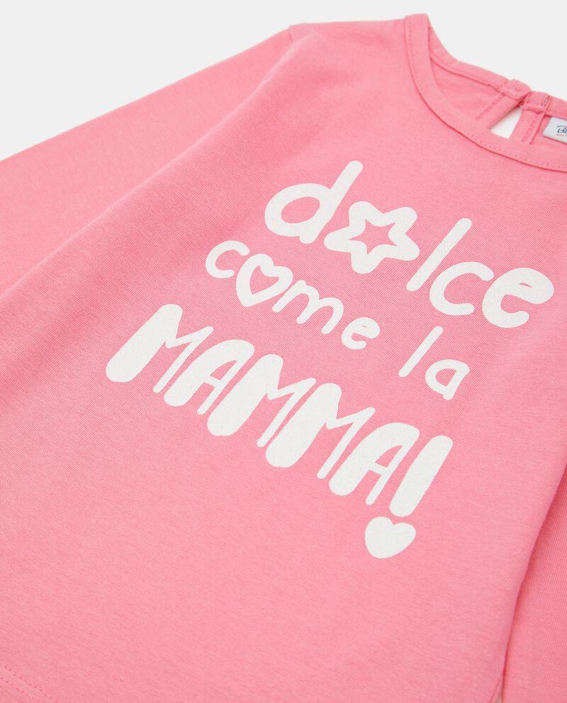 T-shirt in cotone stampata con lettering neonata single tile 1