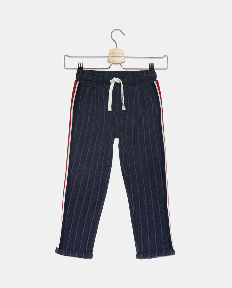 Pantaloni a righe con bande laterali bambino