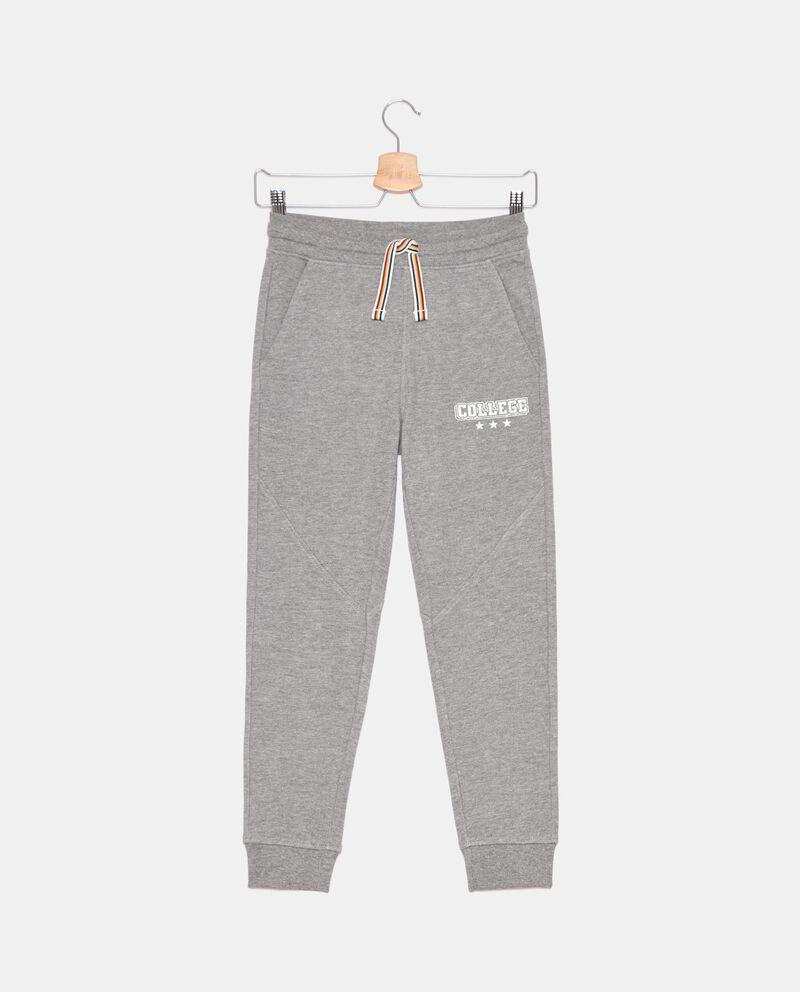 Pantaloni di cotone organico in felpa ragazzo cover
