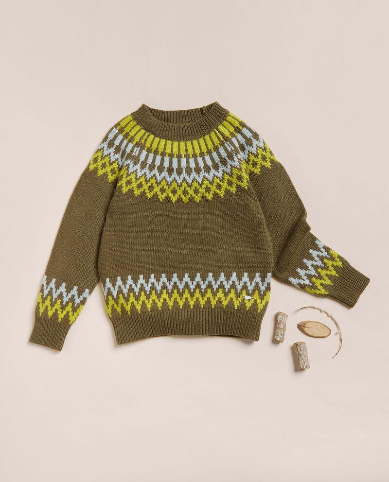 Maglioncino jacquard in misto lana merino e cashmere cover