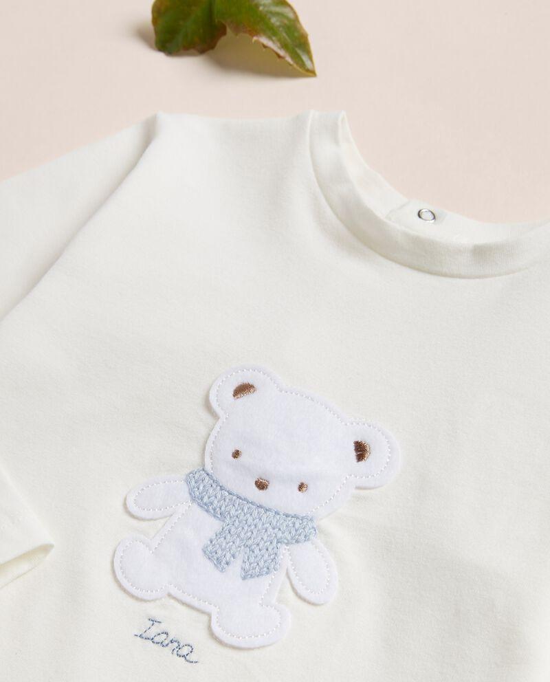 Maglia in jersey con applicazione neonato IANA Made in Italy single tile 1