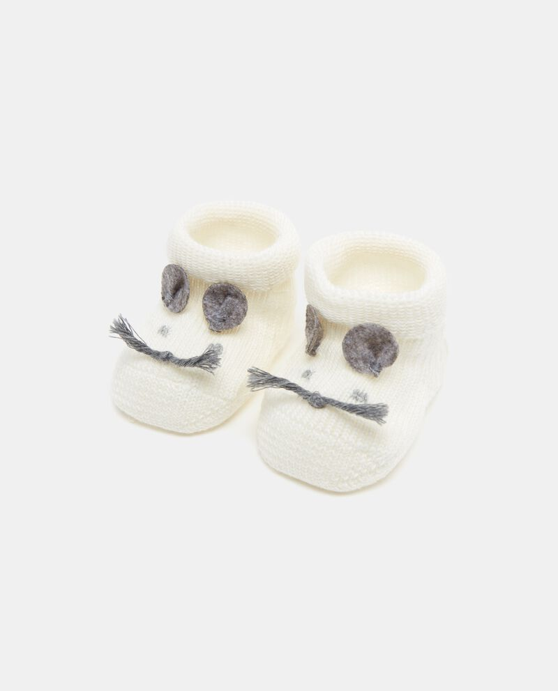 Scarpine con orecchie in maglia