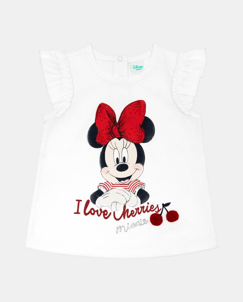 T-shirt girocollo stampa Minnie