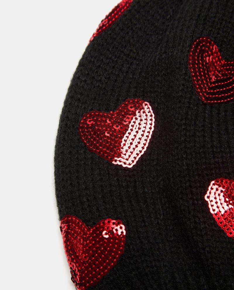 Cuffia tricot con paillettes single tile 1