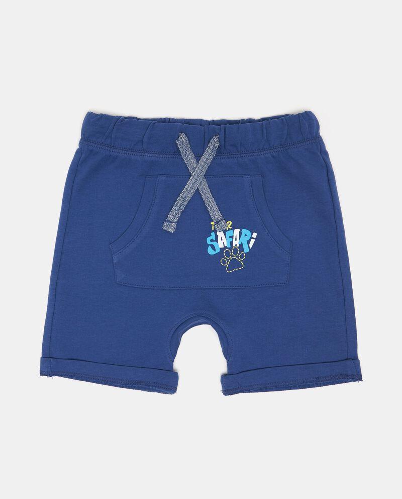 Shorts tasca a marsupio con stampa