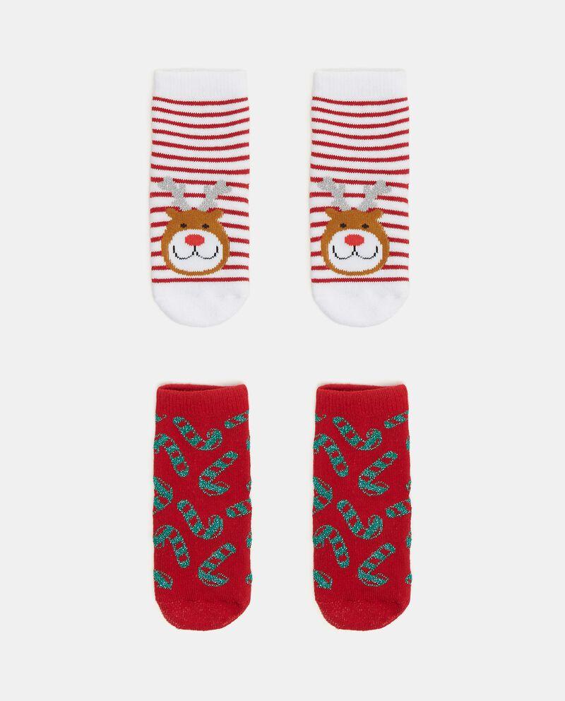 Pack con 2 calze natalizie in cotone organico neonata cover