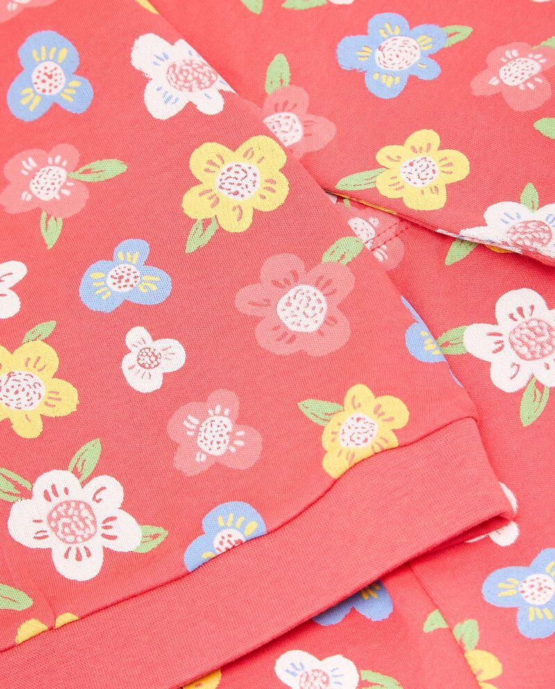 Set pigiama di puro cotone con fantasia floreale neonata