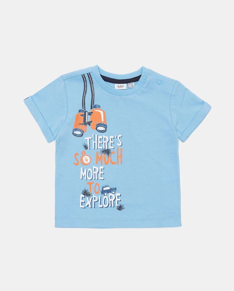 T-shirt in cotone organico con stampa neonato cover