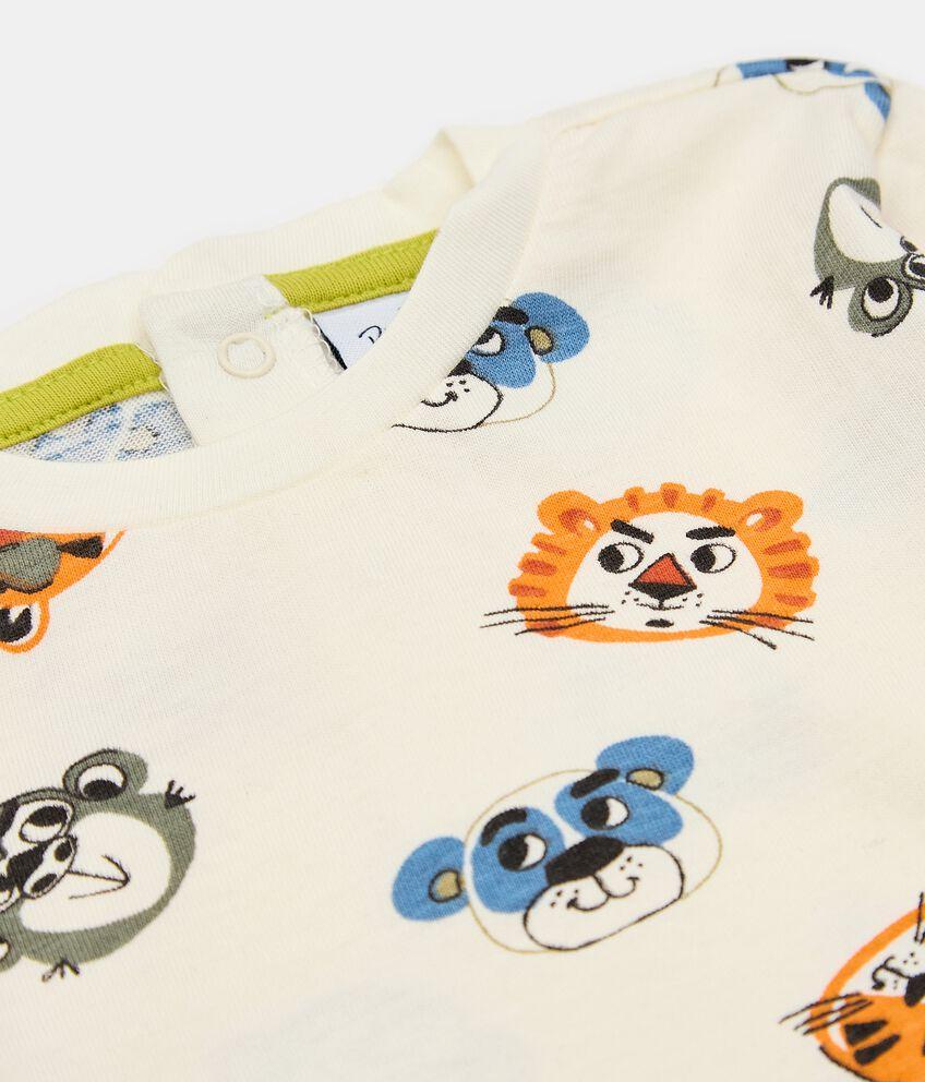 T-shirt in cotone con fantasia neonato double 2