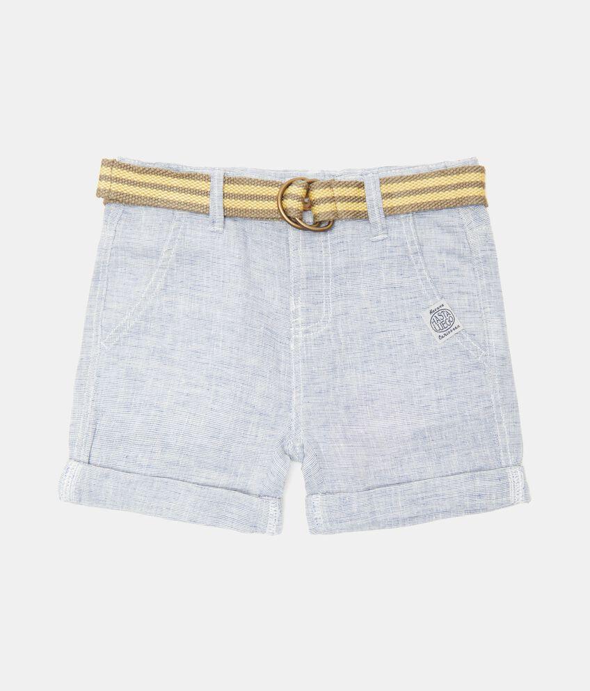 Shorts in cotone misto lino neonato