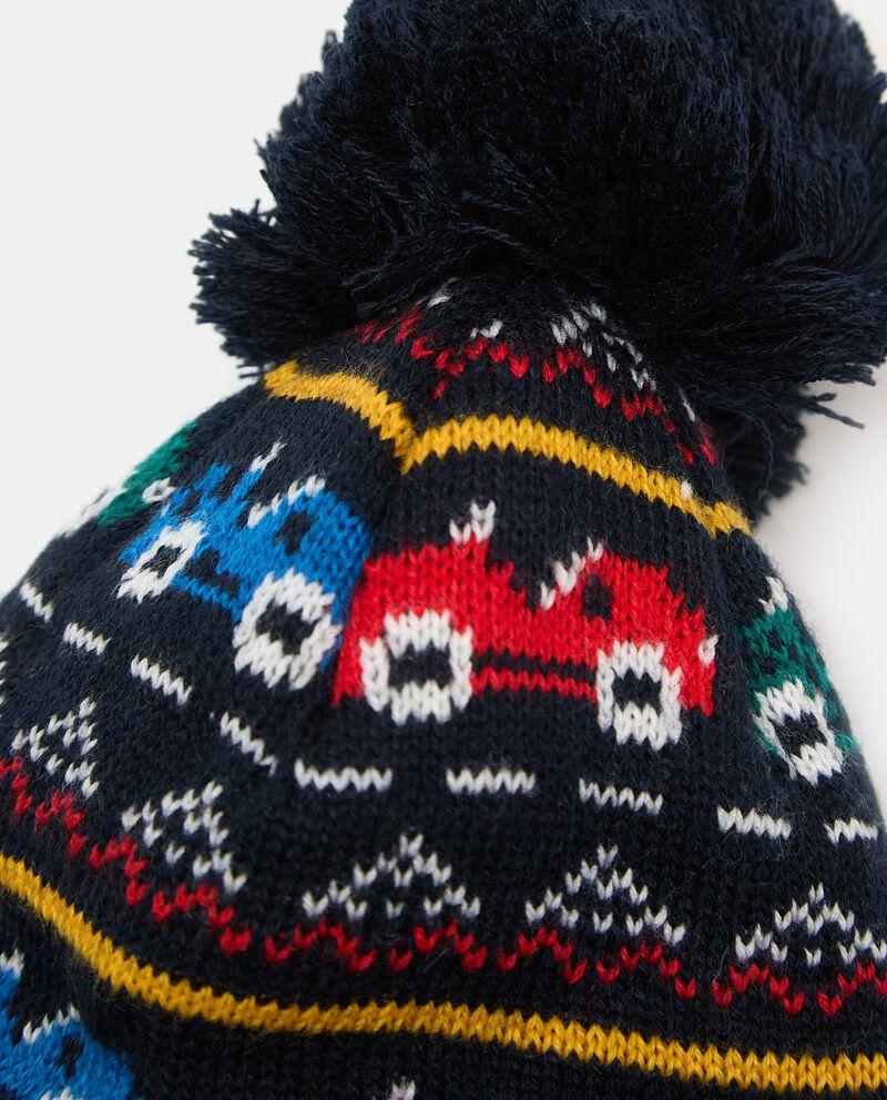 Berretto lavorato in maglia neonatodouble bordered 1