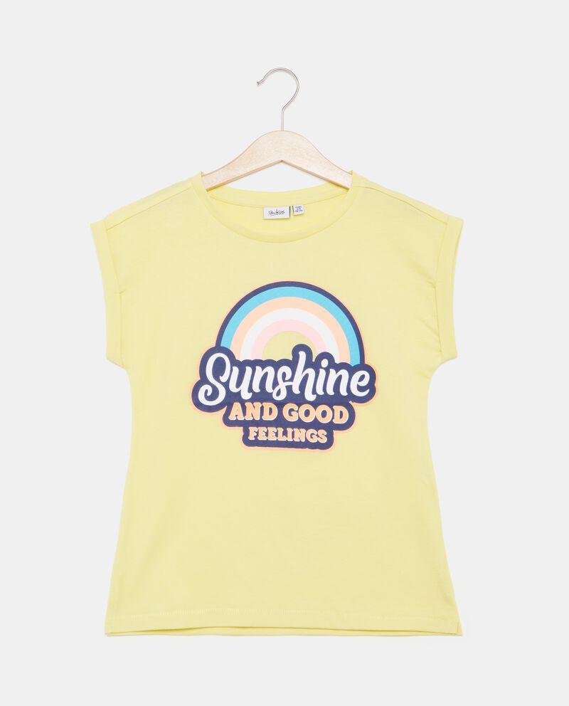 T-shirt in puro cotone con stampa ragazza cover