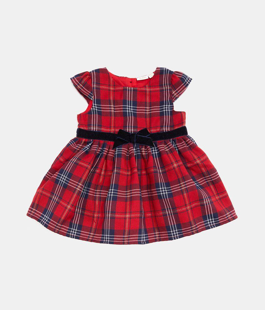 Vestito con fantasia a quadri neonata