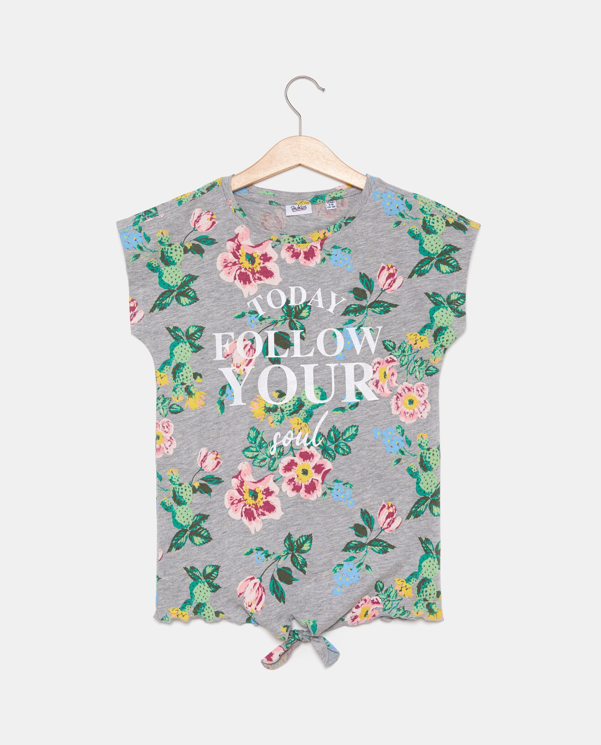 T-shirt con fiocco ragazza