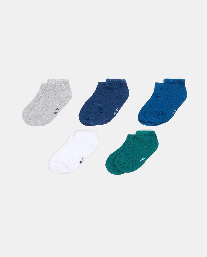 Set con cinque calzini corti bambino