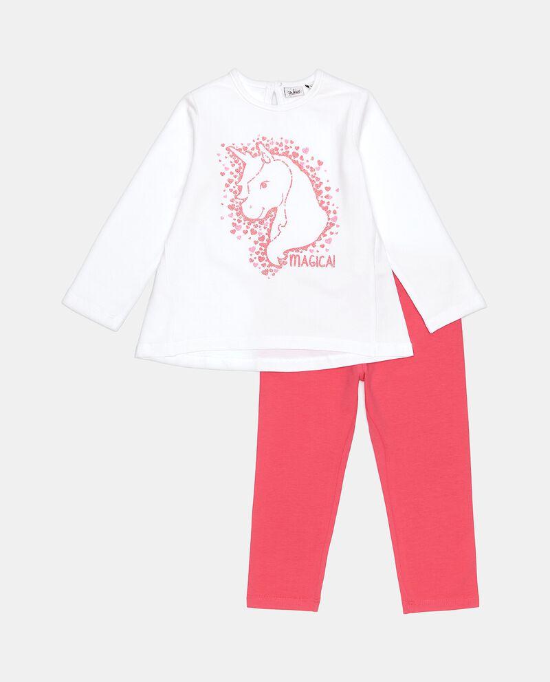 Set jogging in cotone elasticato neonata cover