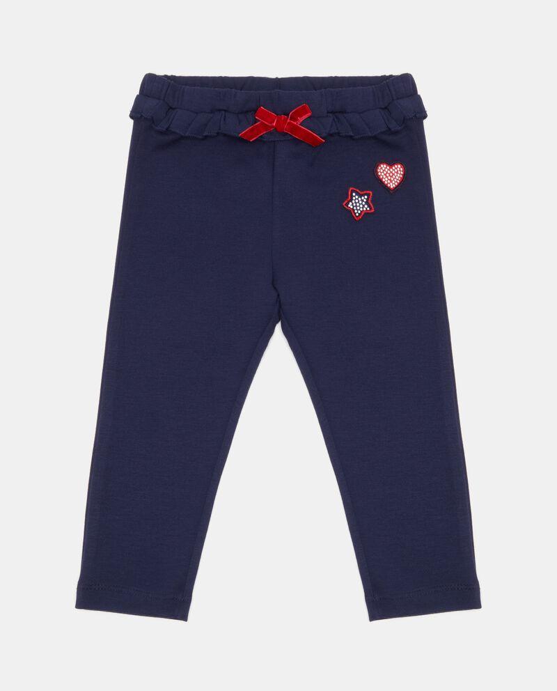 Pantaloni con fiocchetto neonata