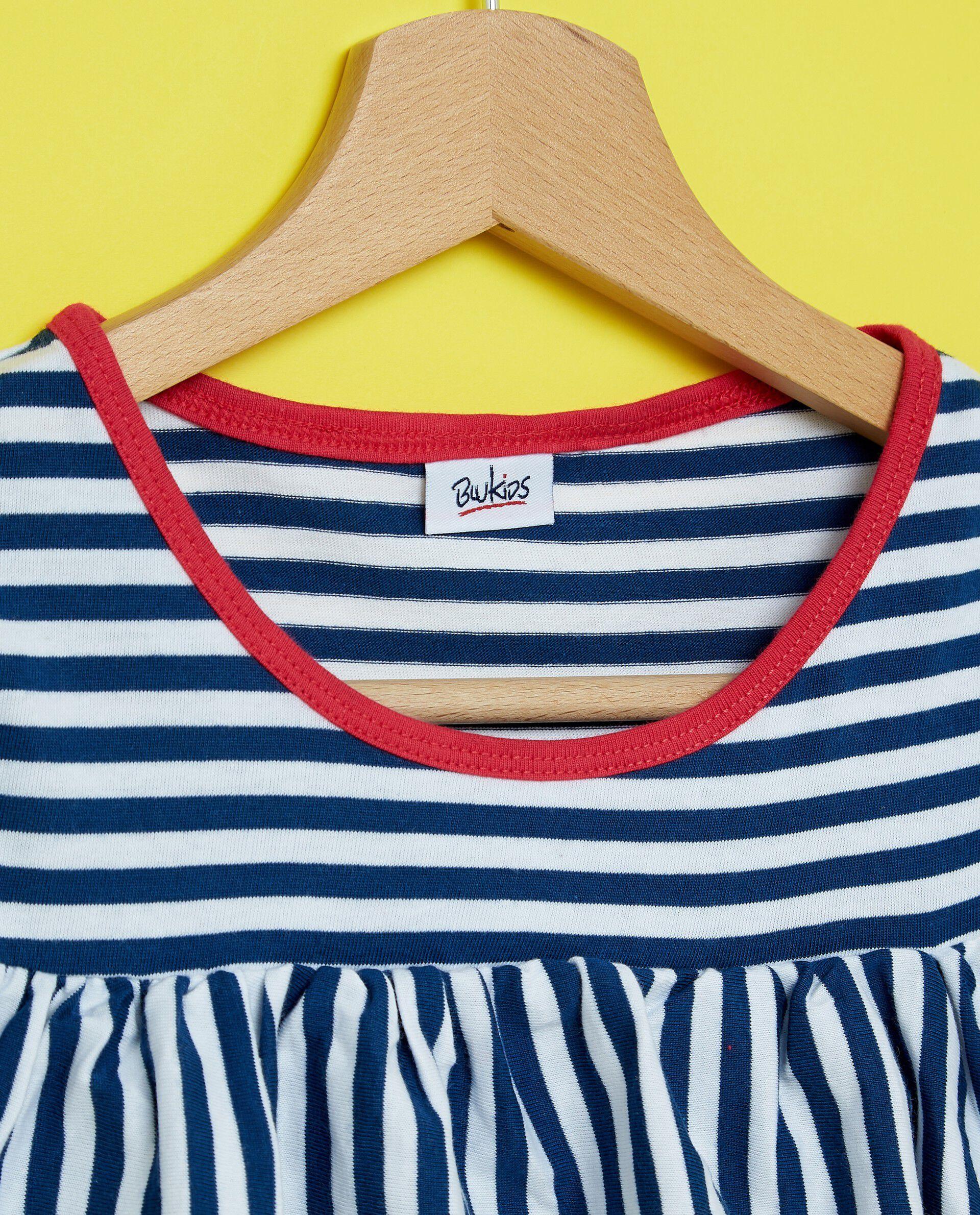 T-shirt con motivo a righe in puro cotone ragazza