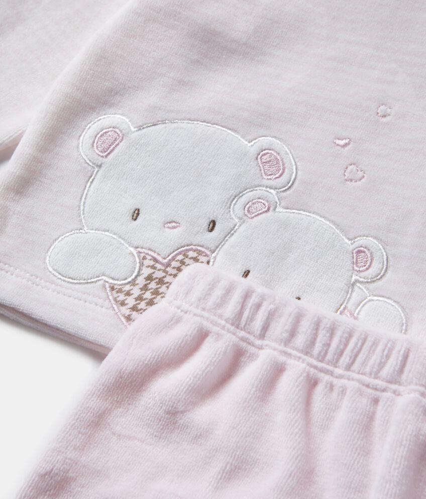 Completino con maglia a righe e pantaloni