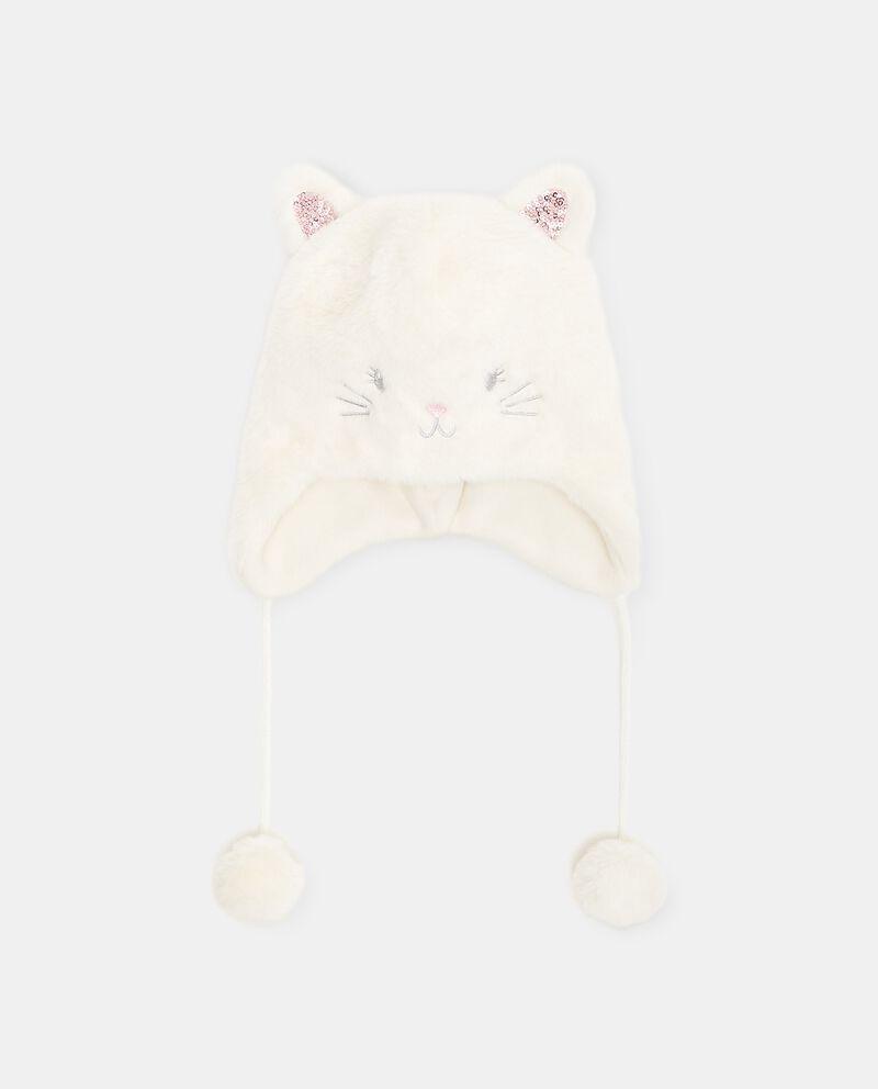 Cappellino a forma di gatto in eco pelliccia neonata cover
