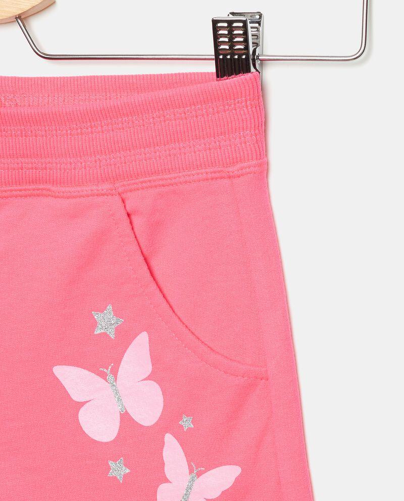 Pantaloni in cotone elasticizzato stampati bambina