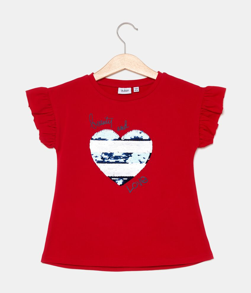 T-shirt con volant bambina