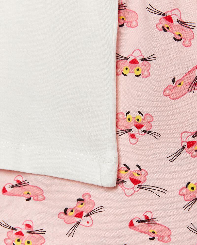 Set pigiama puro cotone con maglia e shorts bambina