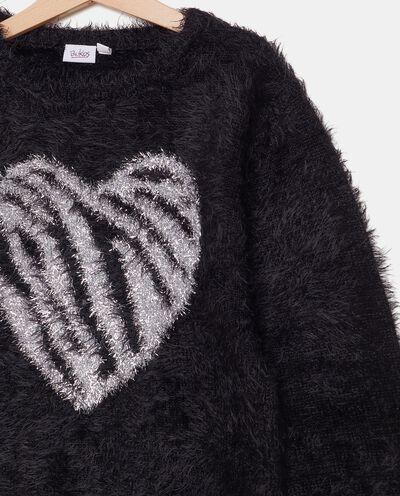 Maglioncino morbido con cuore ragazza