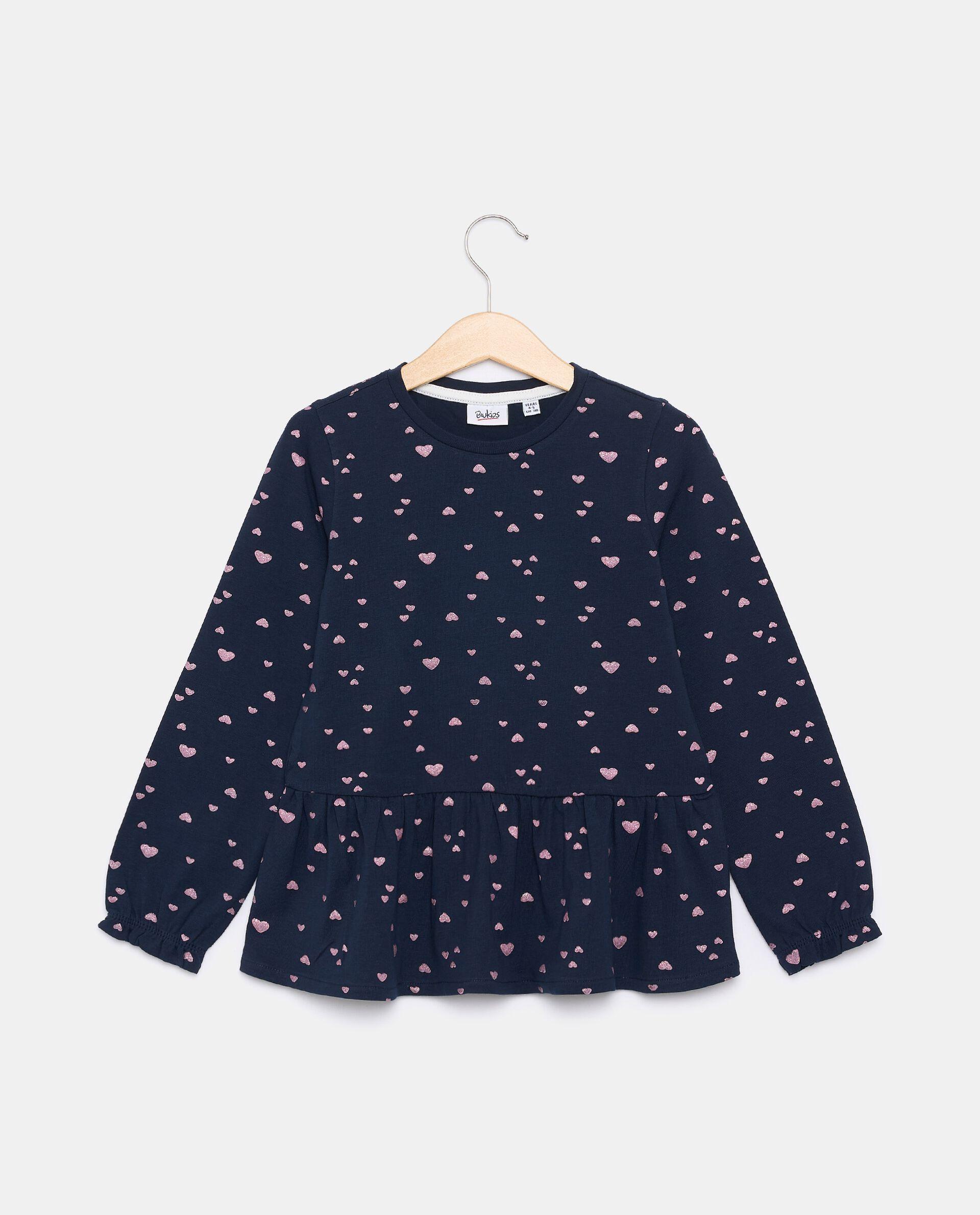 T-shirt in jersey stretch in cotone organico bambina