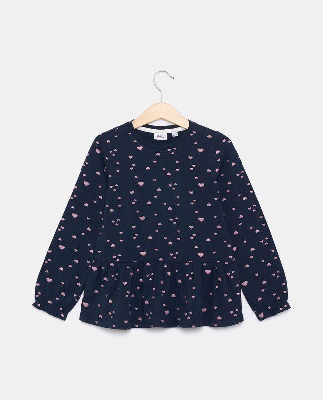 T-shirt in jersey stretch in cotone organico bambina carousel 0
