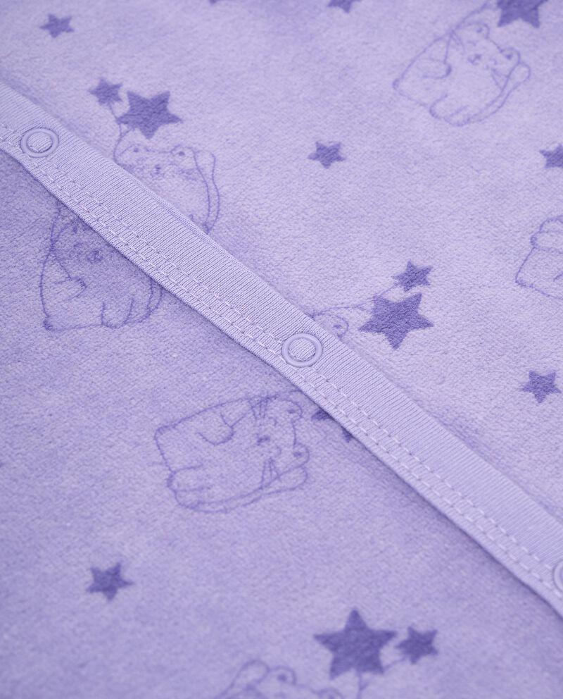Tutina in velours con stampa all over in cotone organico neonata single tile 1