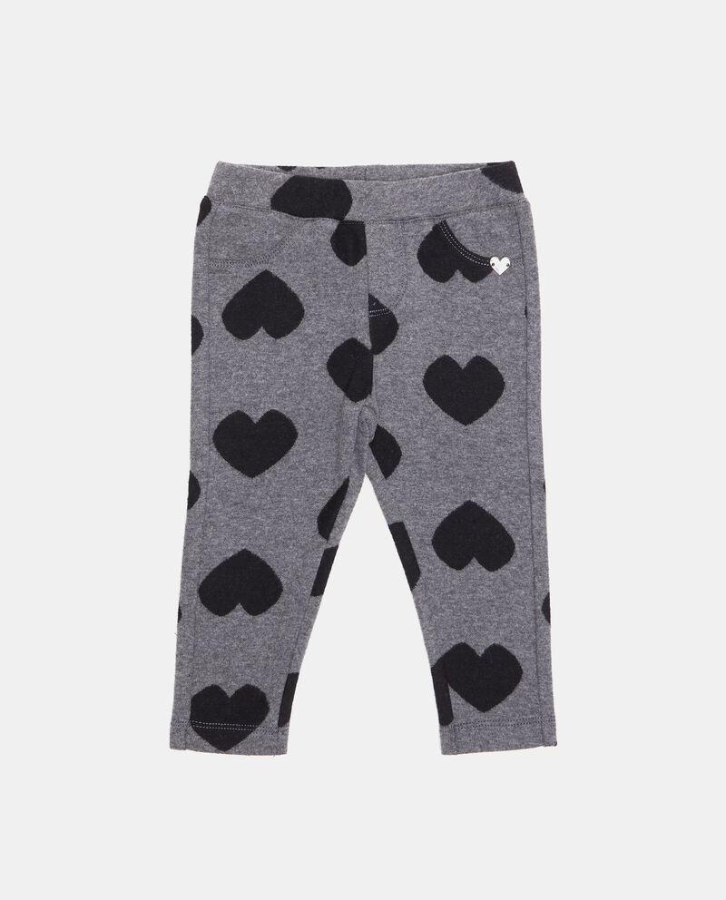 Pantaloni con fantasia cuoricini neonata
