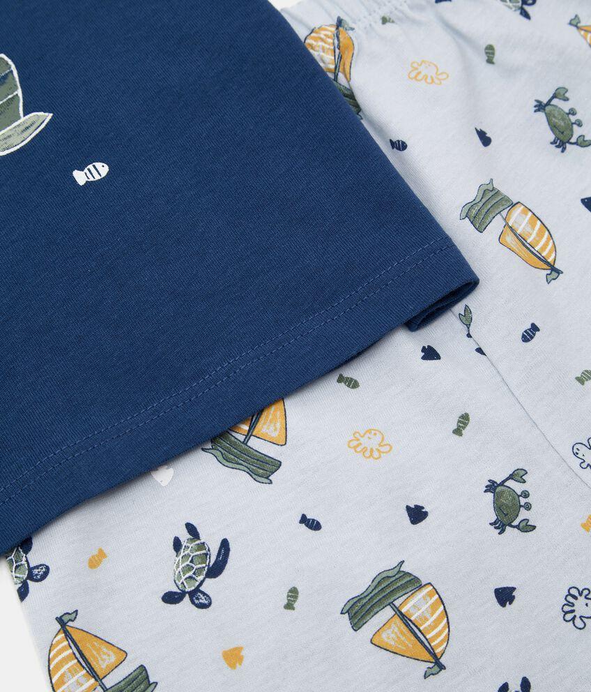 Pigiama di cotone organico jersey neonato double 2