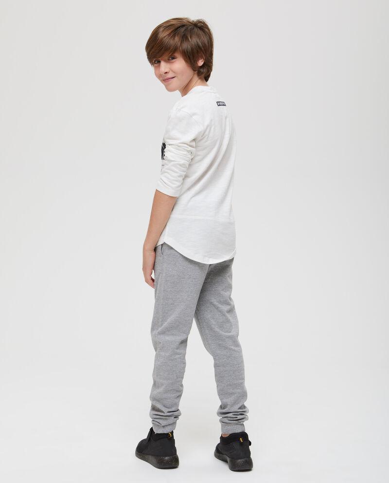 T-shirt puro cotone maniche lunghe