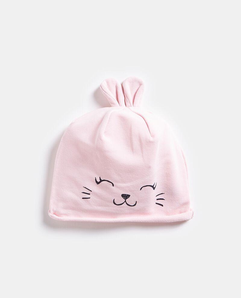 Cappellino con stampa e orecchie neonata