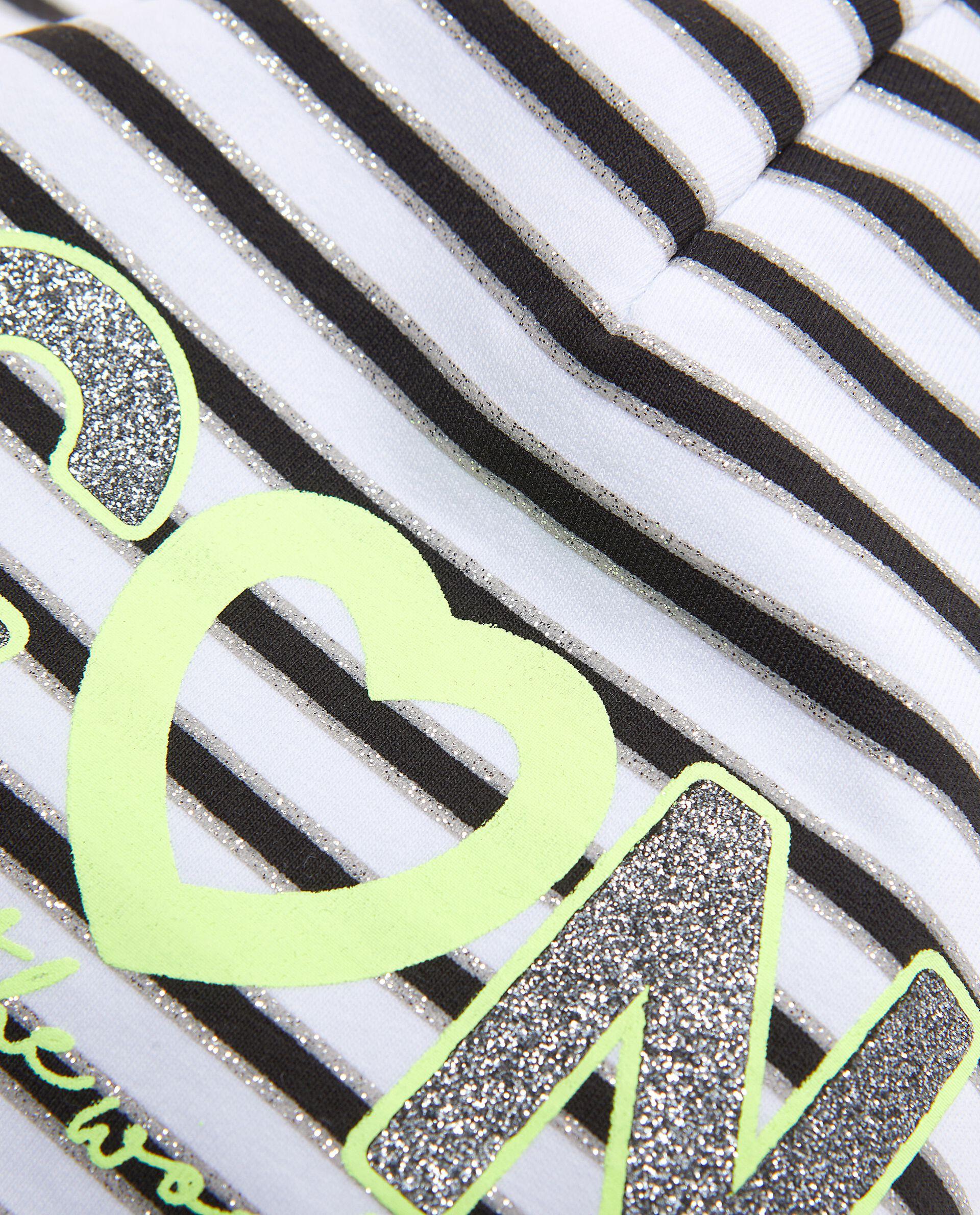 Berretto in cotone elasticato a righe