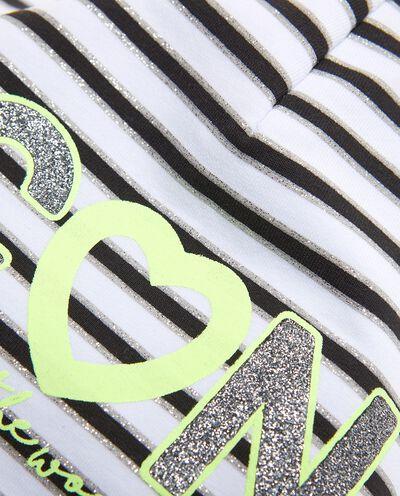 Berretto in cotone elasticato a righe detail 1