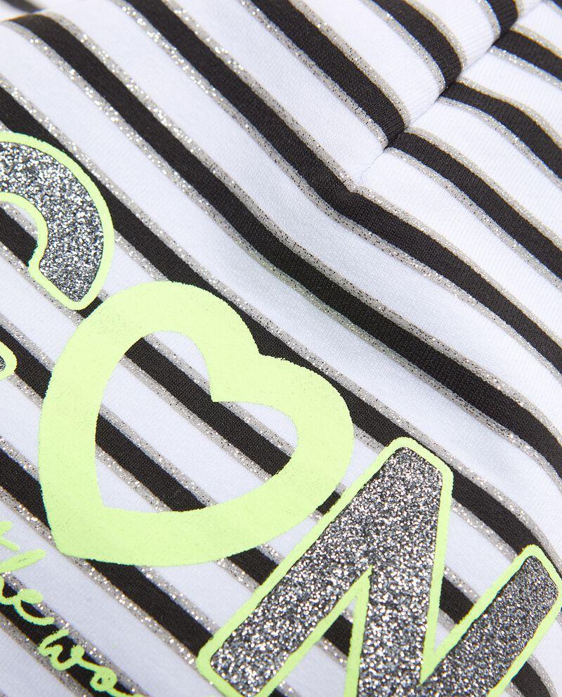 Berretto in cotone elasticato a righe single tile 1