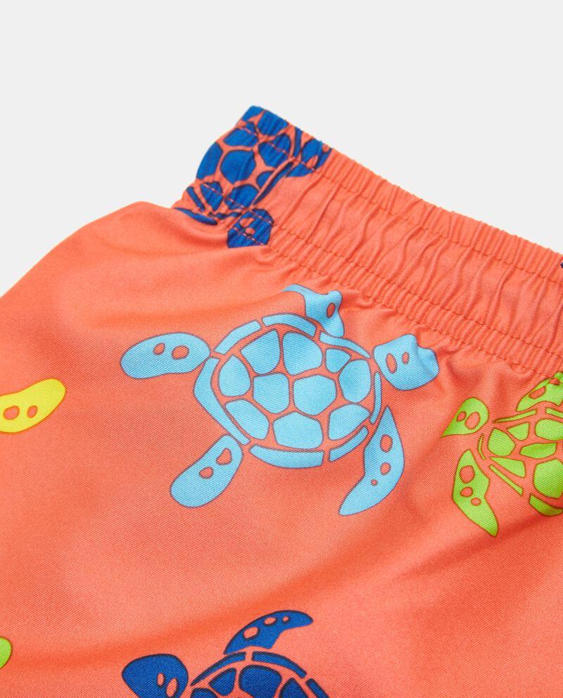 Costume boxer con stampa tartarughe ragazzo