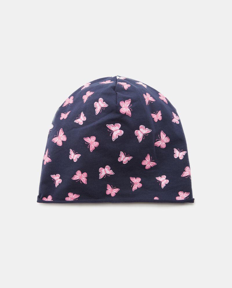 Cappellino con fantasia farfalle