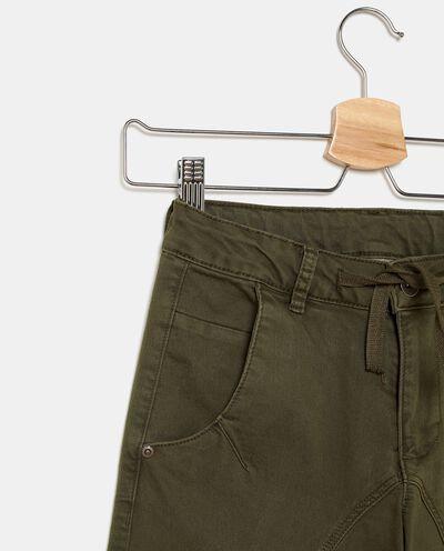 Pantaloni cargo in tinta unita ragazzo