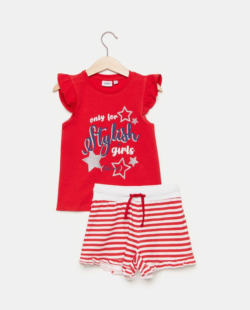 Set jogging con t-shirt e shorts bambina