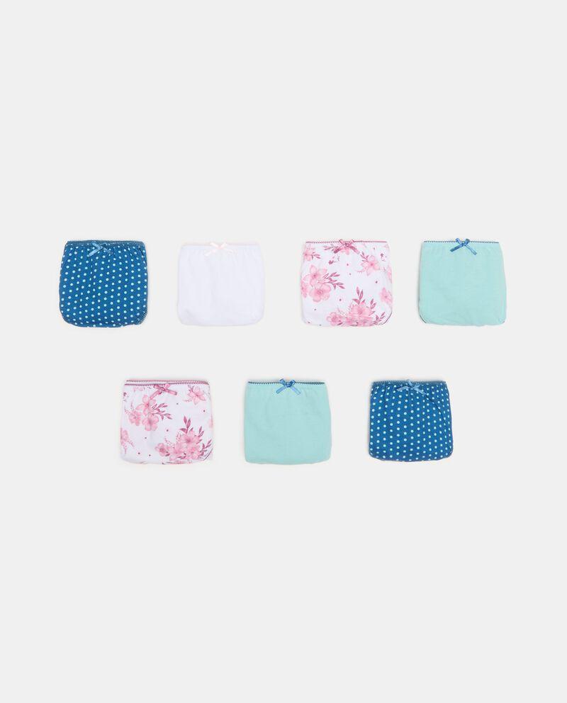 Pack con 7 slip di cotone organico ragazza cover