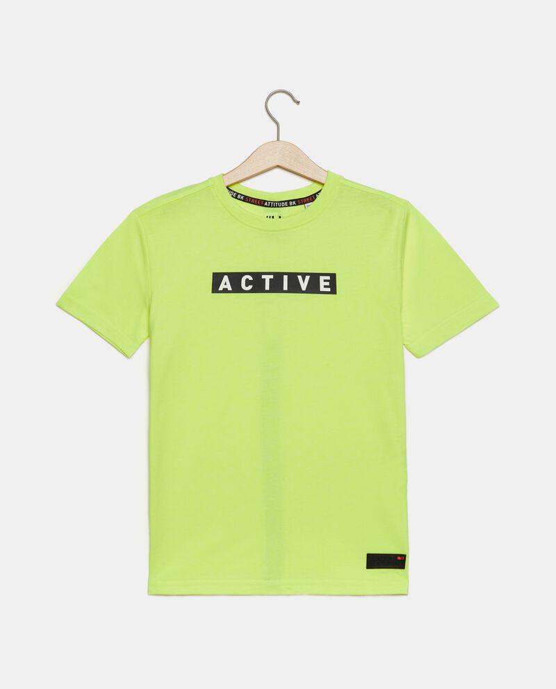 T-shirt con lettering ragazzo cover
