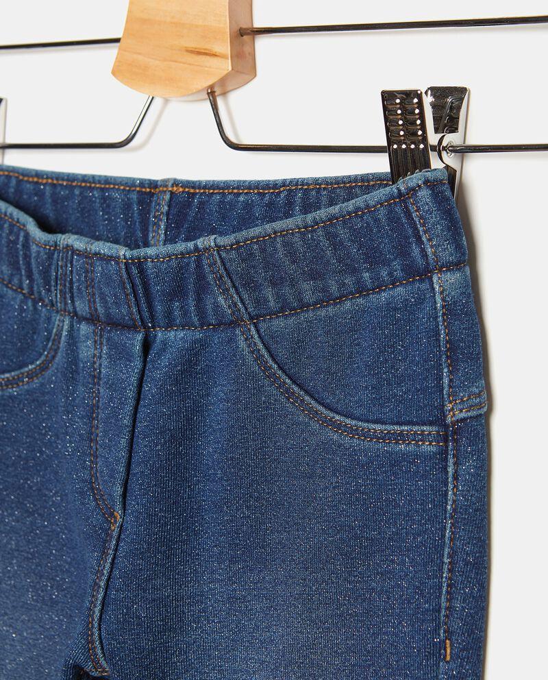 Jeggings in cotone elasticato con filo lurex ragazza