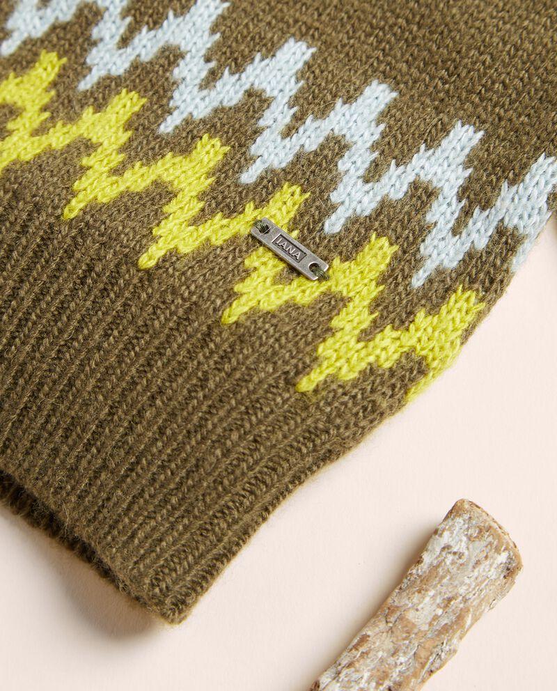 Maglioncino jacquard in misto lana merino e cashmere single tile 1