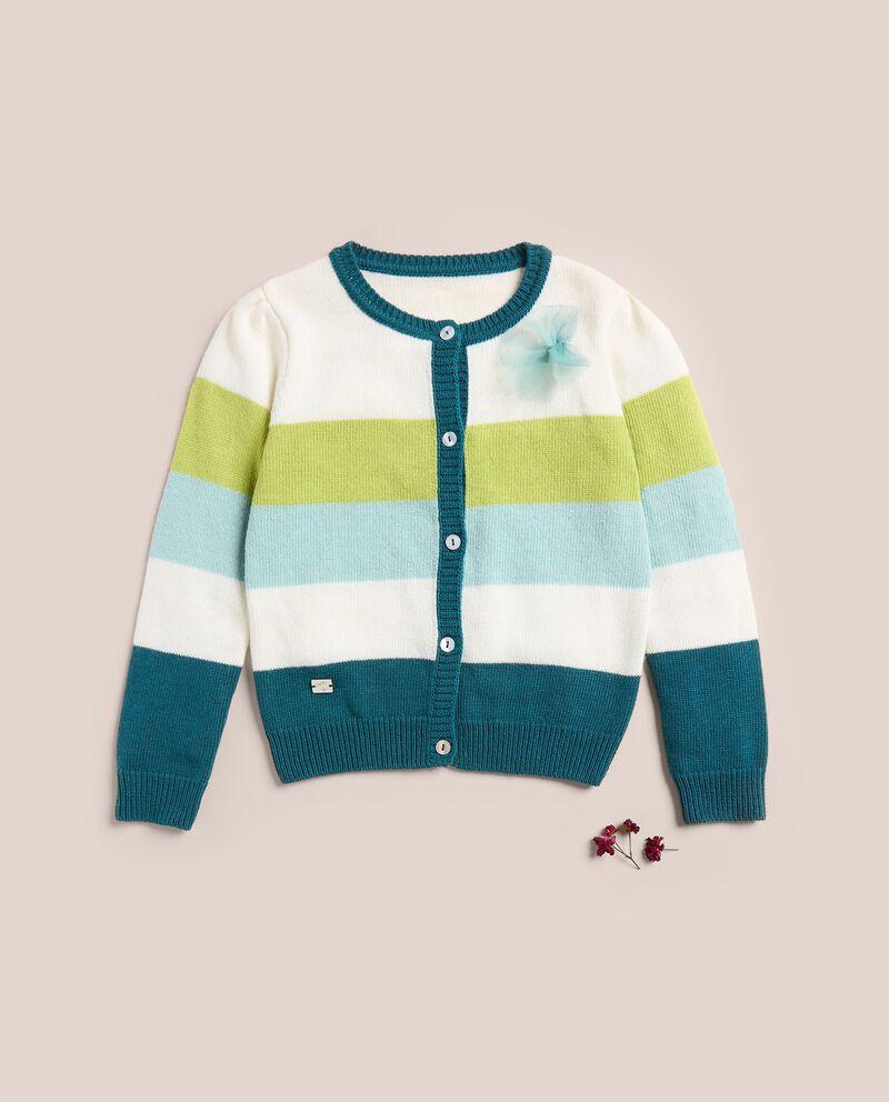 Cardigan a righe in lana merino e cashmere IANA cover