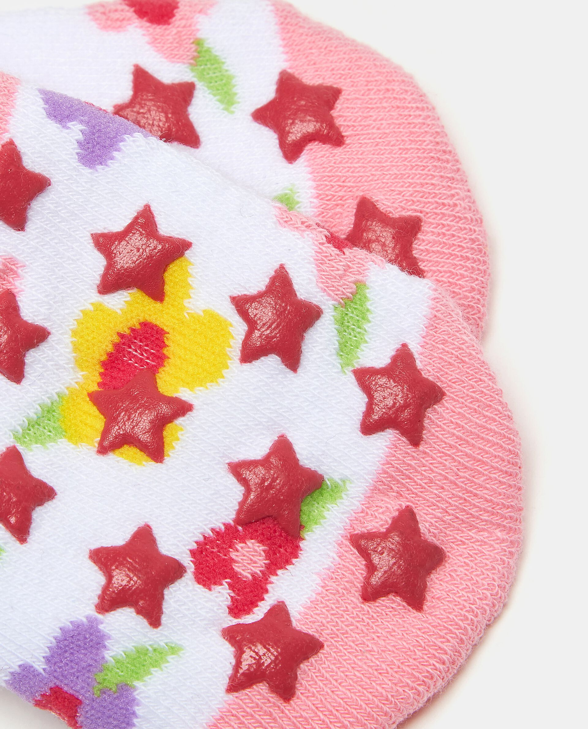 Calzini in fantasia di cotone elasticato neonata