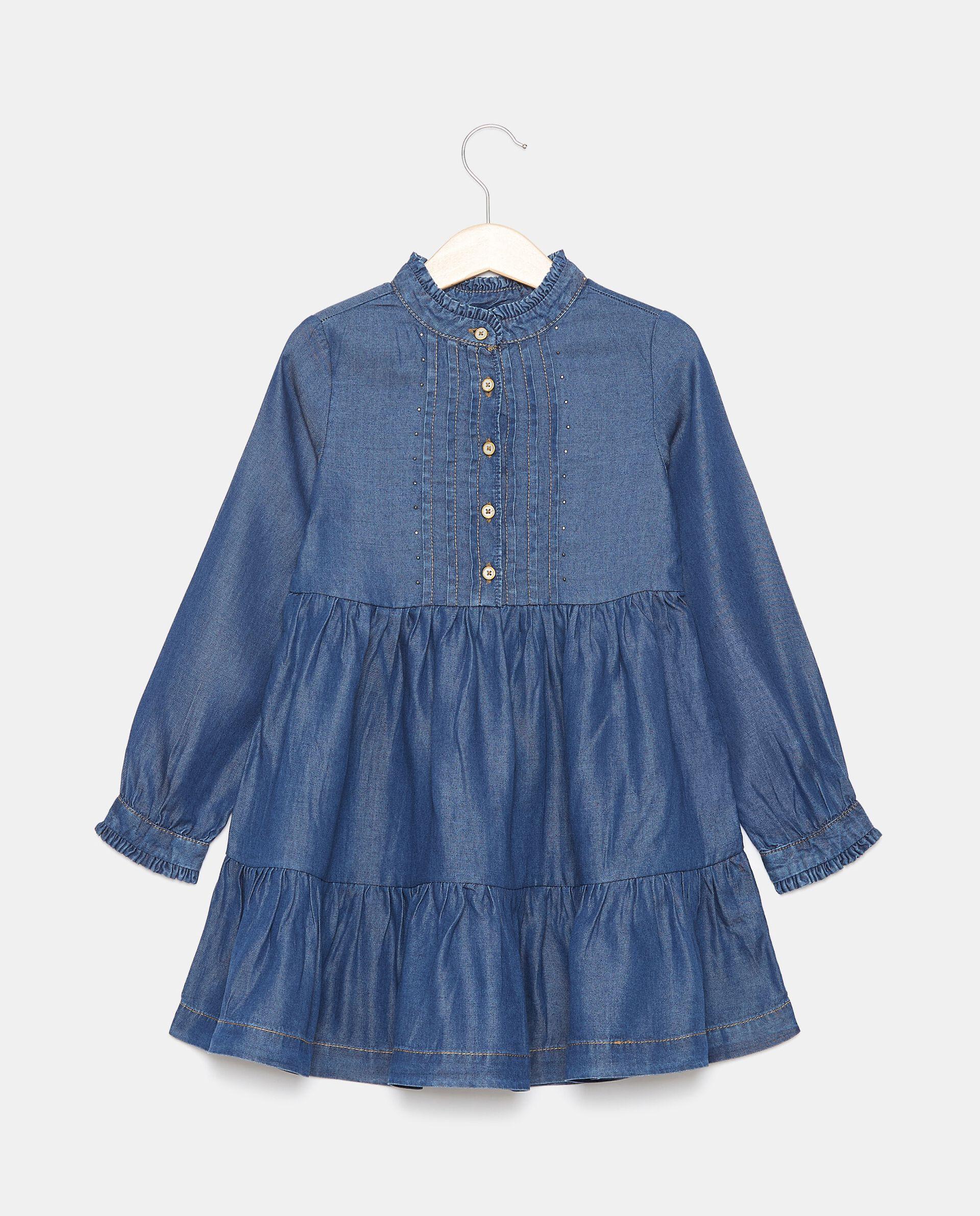 Vestito in lyocell con borchiette bambina